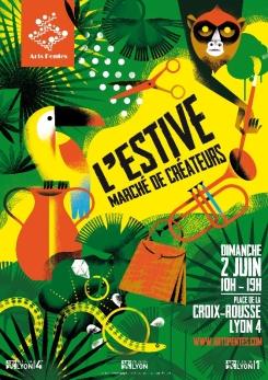 Lyon, le dimanche 2 juin :  « L'Estive » réunit 40 créateurs locaux à la Croix-Rousse 2019-06-lestive-lyon.002